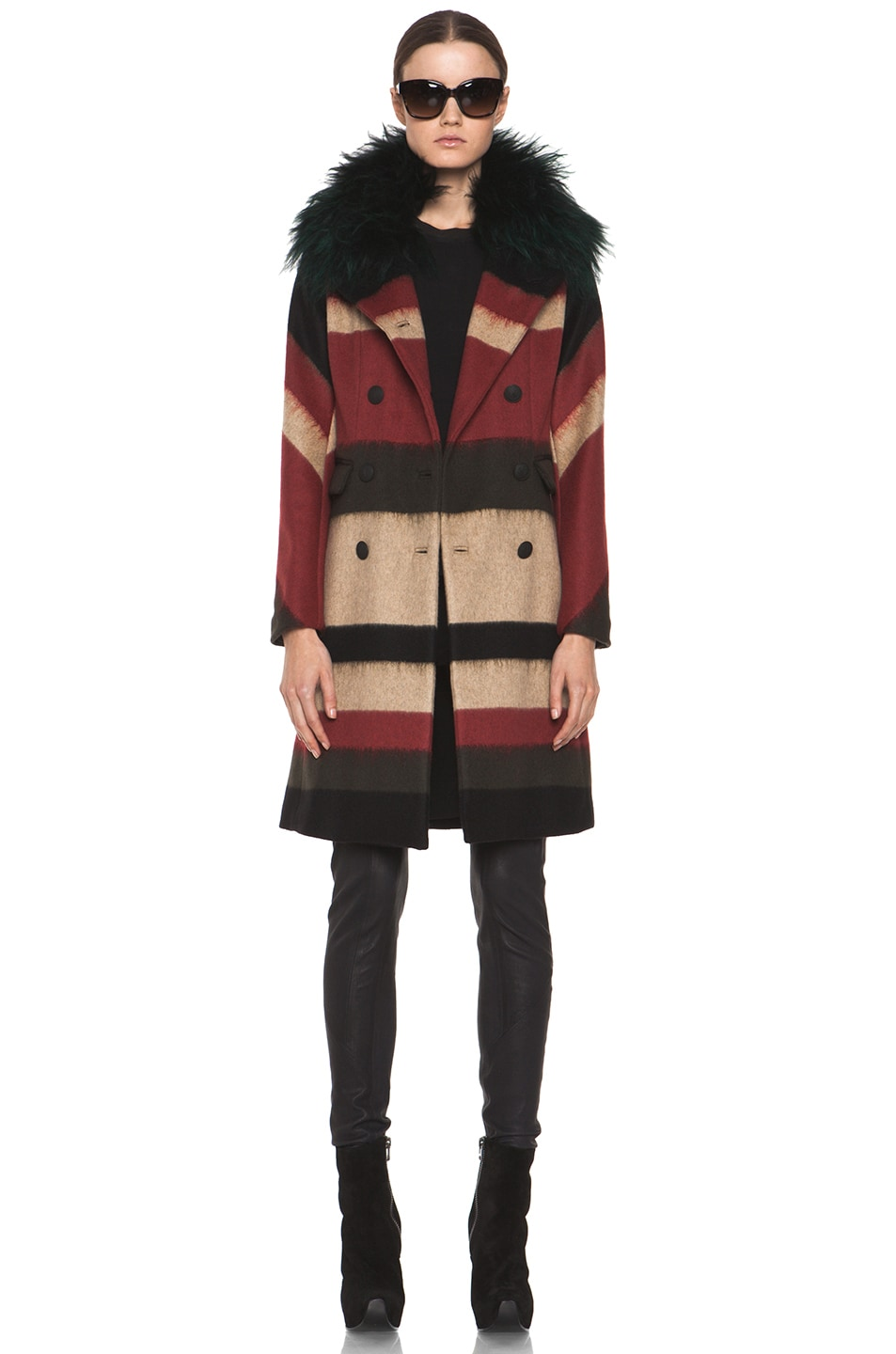 Image 1 of rag & bone Winsor Coat in Black