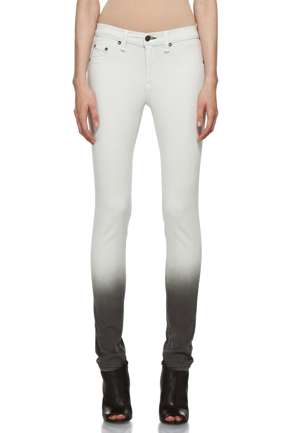 Image 1 of Rag & Bone Ombre Plush Legging in Winter White