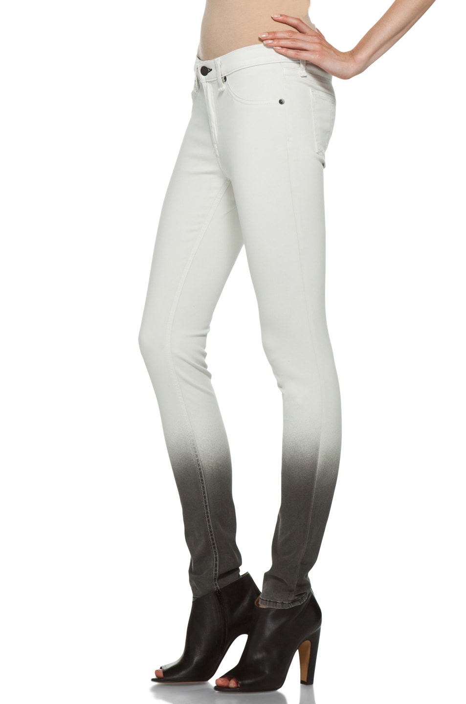 Image 2 of Rag & Bone Ombre Plush Legging in Winter White