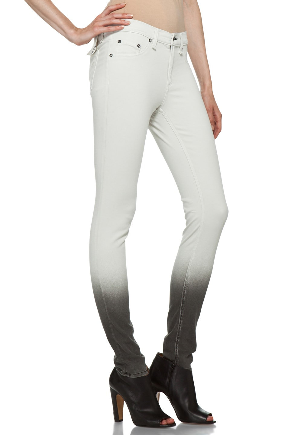 Image 3 of Rag & Bone Ombre Plush Legging in Winter White
