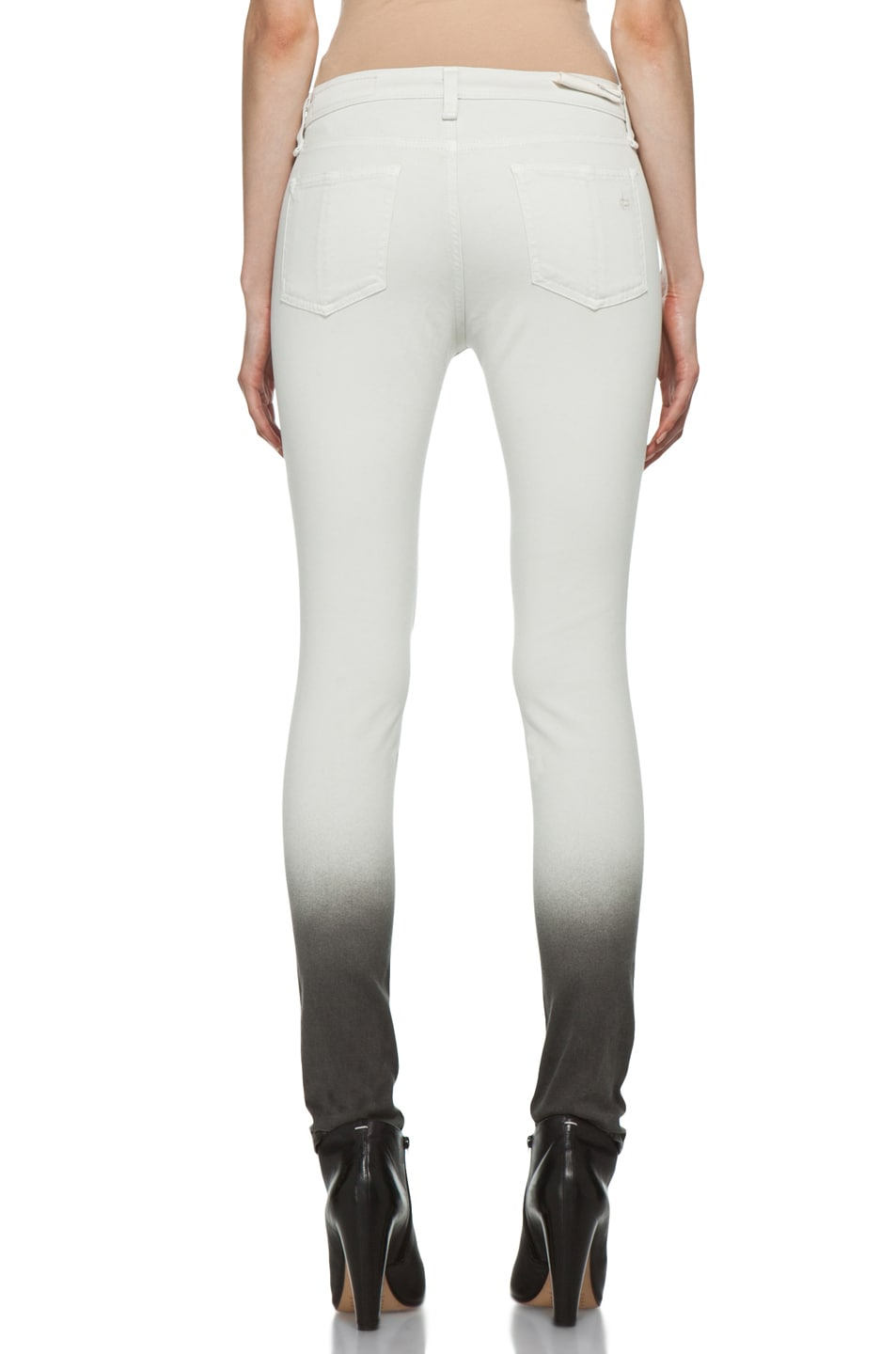 Image 4 of Rag & Bone Ombre Plush Legging in Winter White