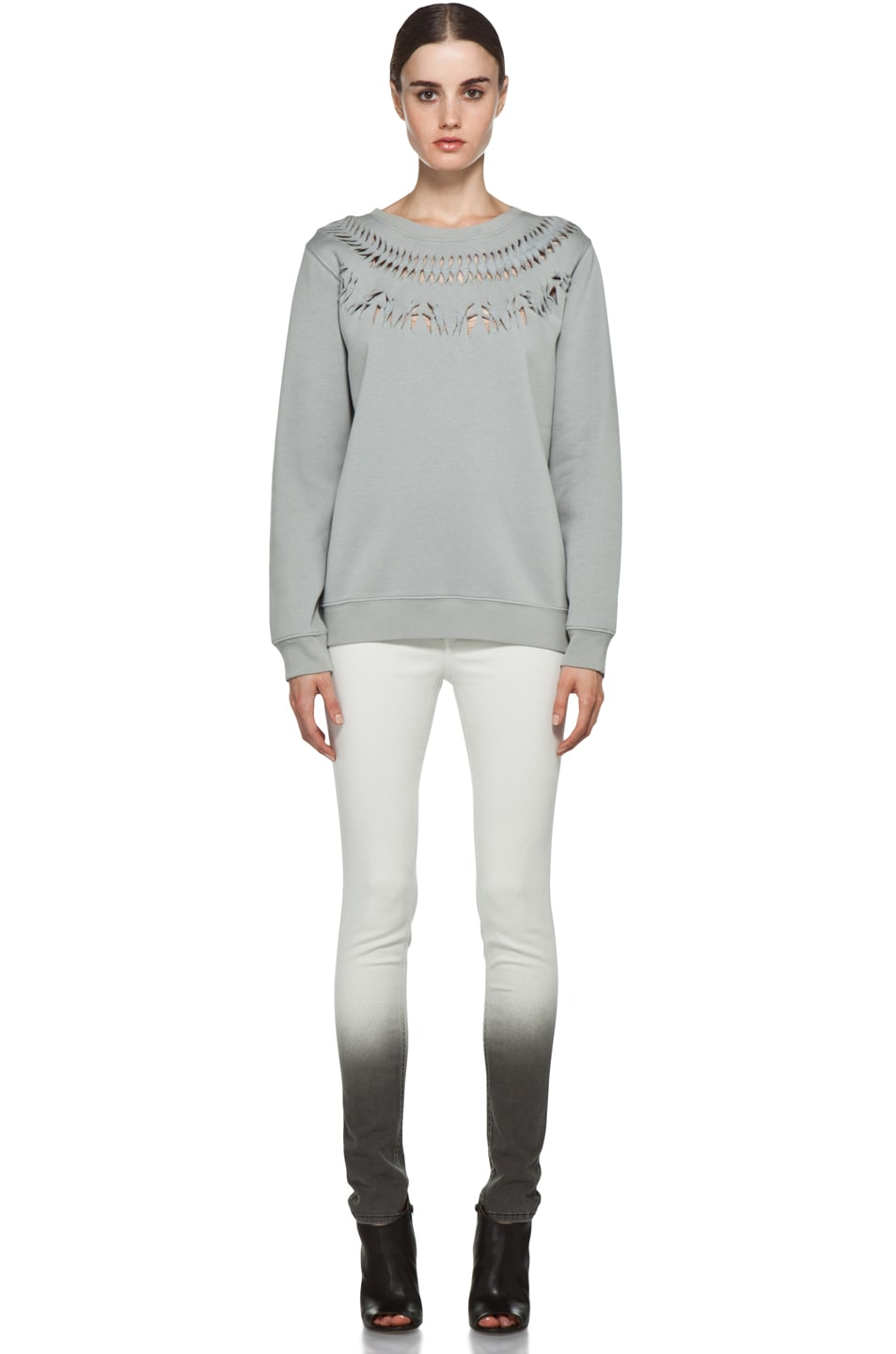 Image 5 of Rag & Bone Ombre Plush Legging in Winter White