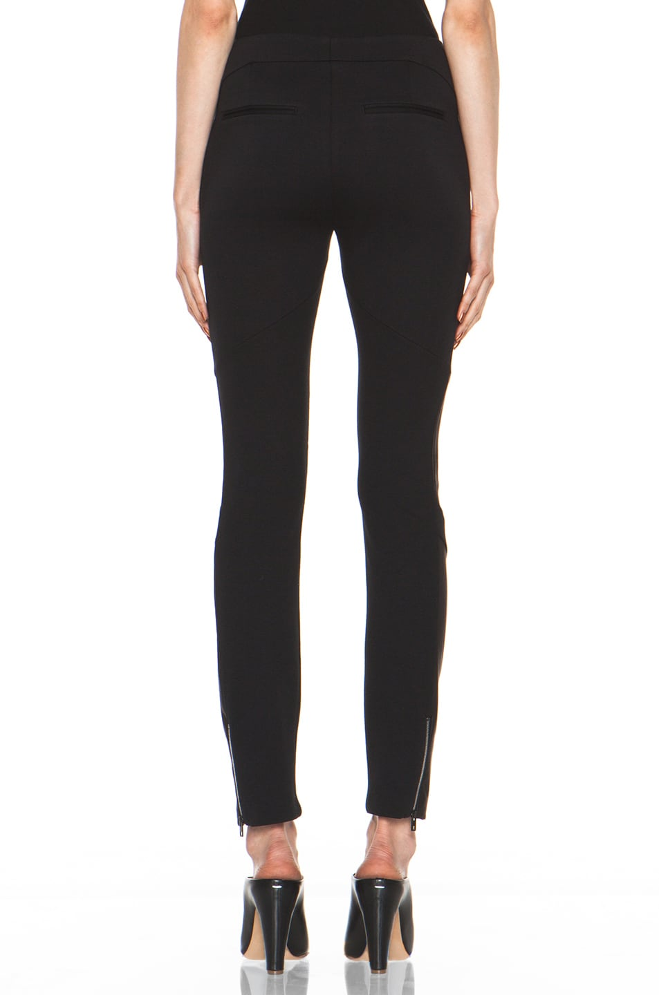 Image 4 of Rag & Bone Berline Leather Panel Legging in Black