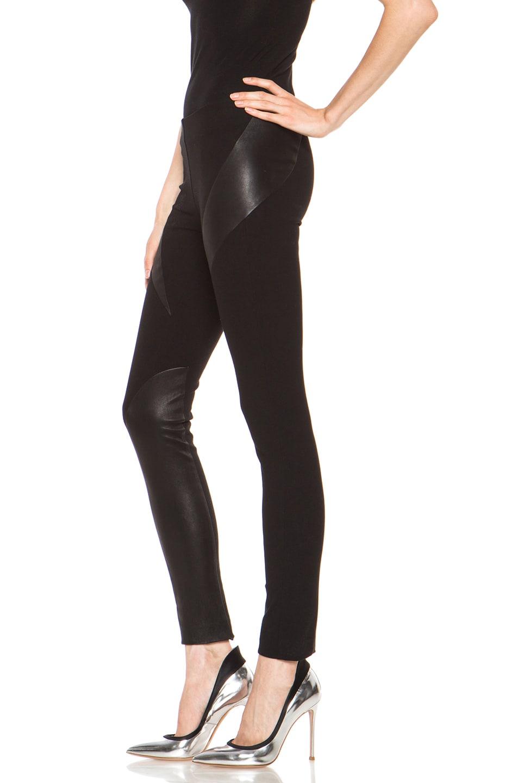 Image 2 of rag & bone Jackson Legging with Leather in Black