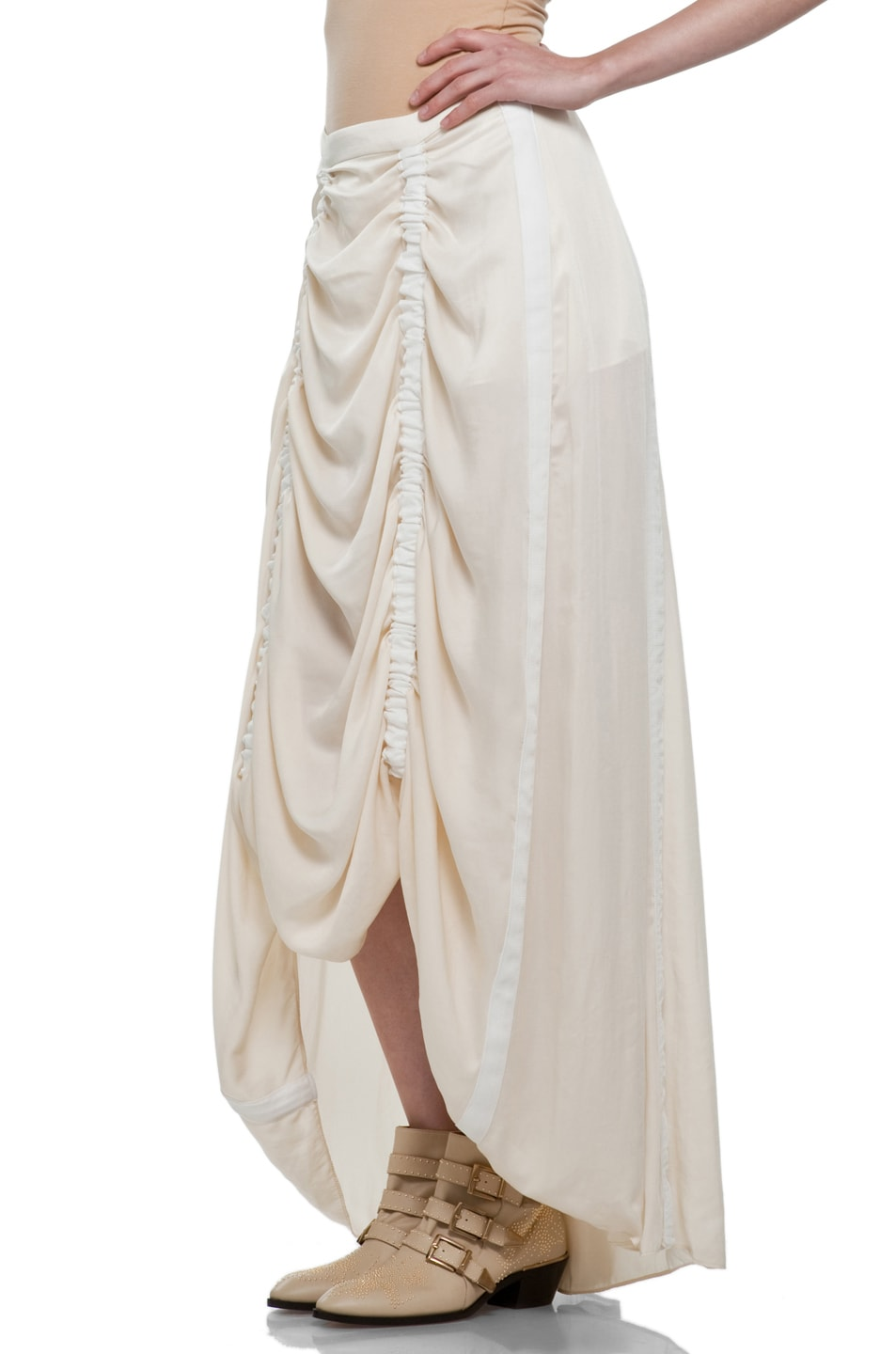 Image 2 of rag & bone Parachute Skirt in Ivory