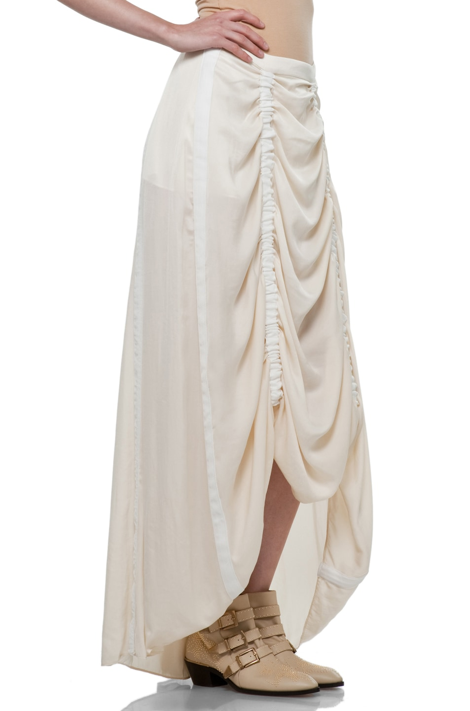 Image 3 of Rag & Bone Parachute Skirt in Ivory