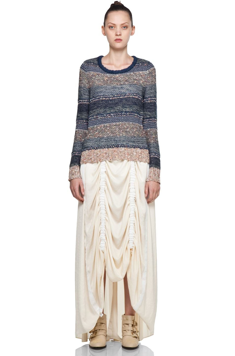 Image 5 of Rag & Bone Parachute Skirt in Ivory