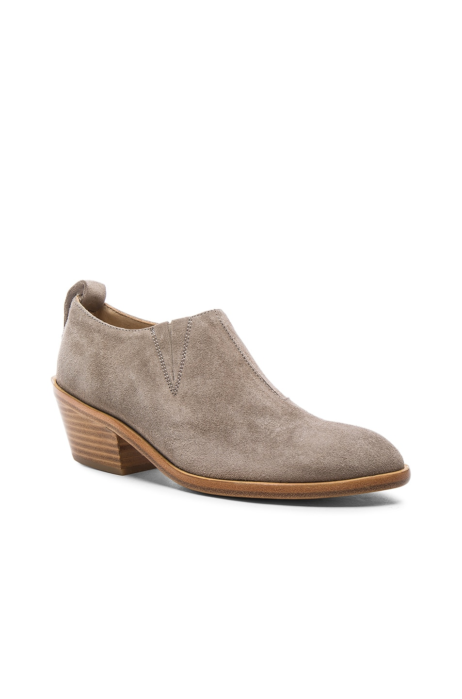 Image 2 of Rag & Bone Suede Thompson Boots in Warm Grey Suede