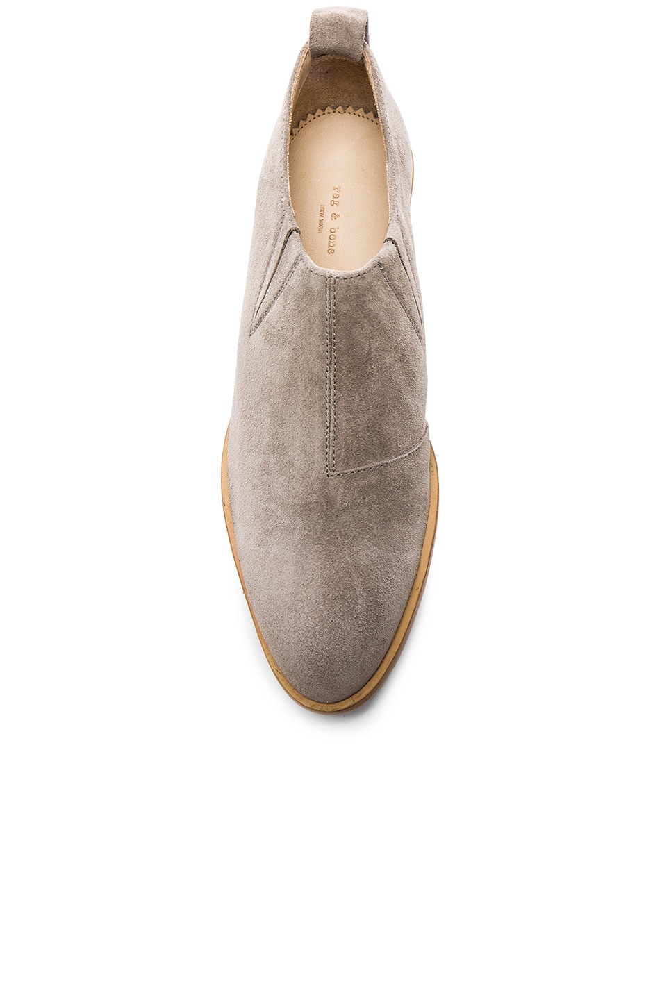 Image 4 of Rag & Bone Suede Thompson Boots in Warm Grey Suede