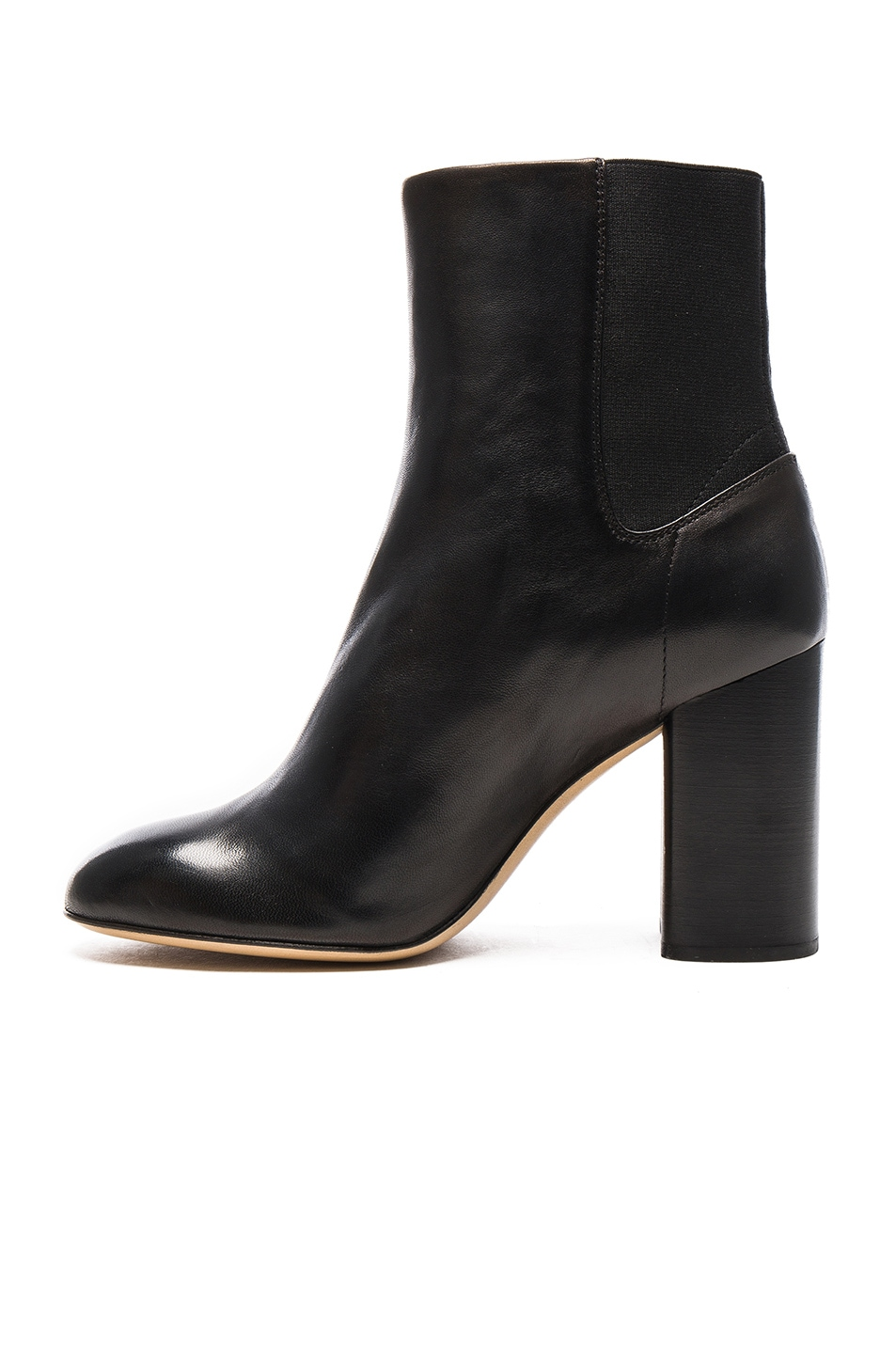 Image 5 of Rag & Bone Leather Agnes Booties in Black