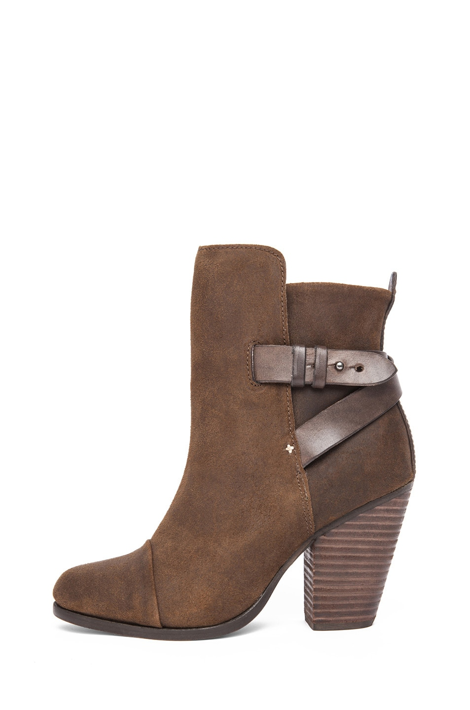 Image 1 of Rag & Bone Kinsey Waxed Suede Boot in Brown