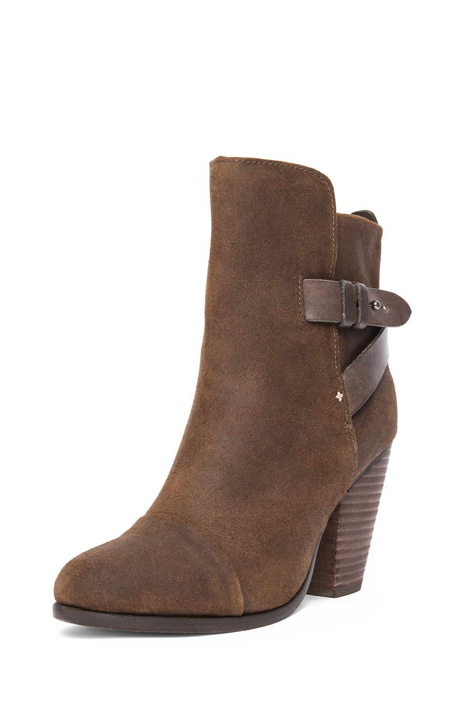 Image 2 of Rag & Bone Kinsey Waxed Suede Boot in Brown