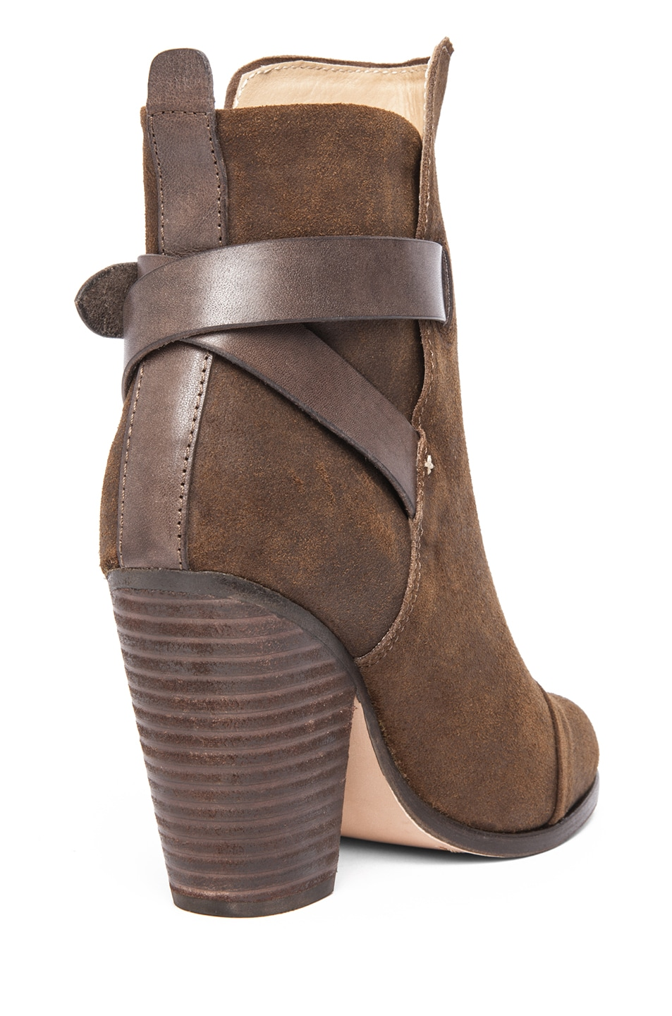 Image 3 of Rag & Bone Kinsey Waxed Suede Boot in Brown