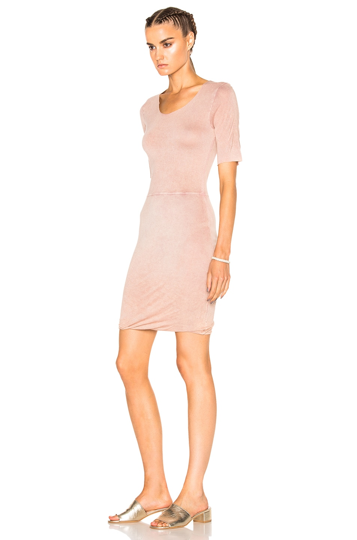 Image 2 of Raquel Allegra Jersey Twist Dress in Rose