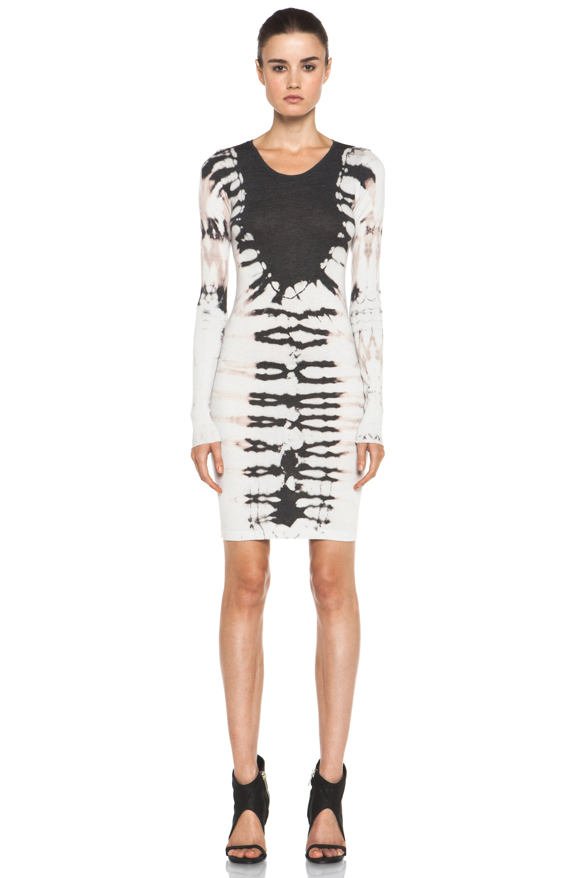 Image 1 of Raquel Allegra Layering Long Sleeve Dress in Black
