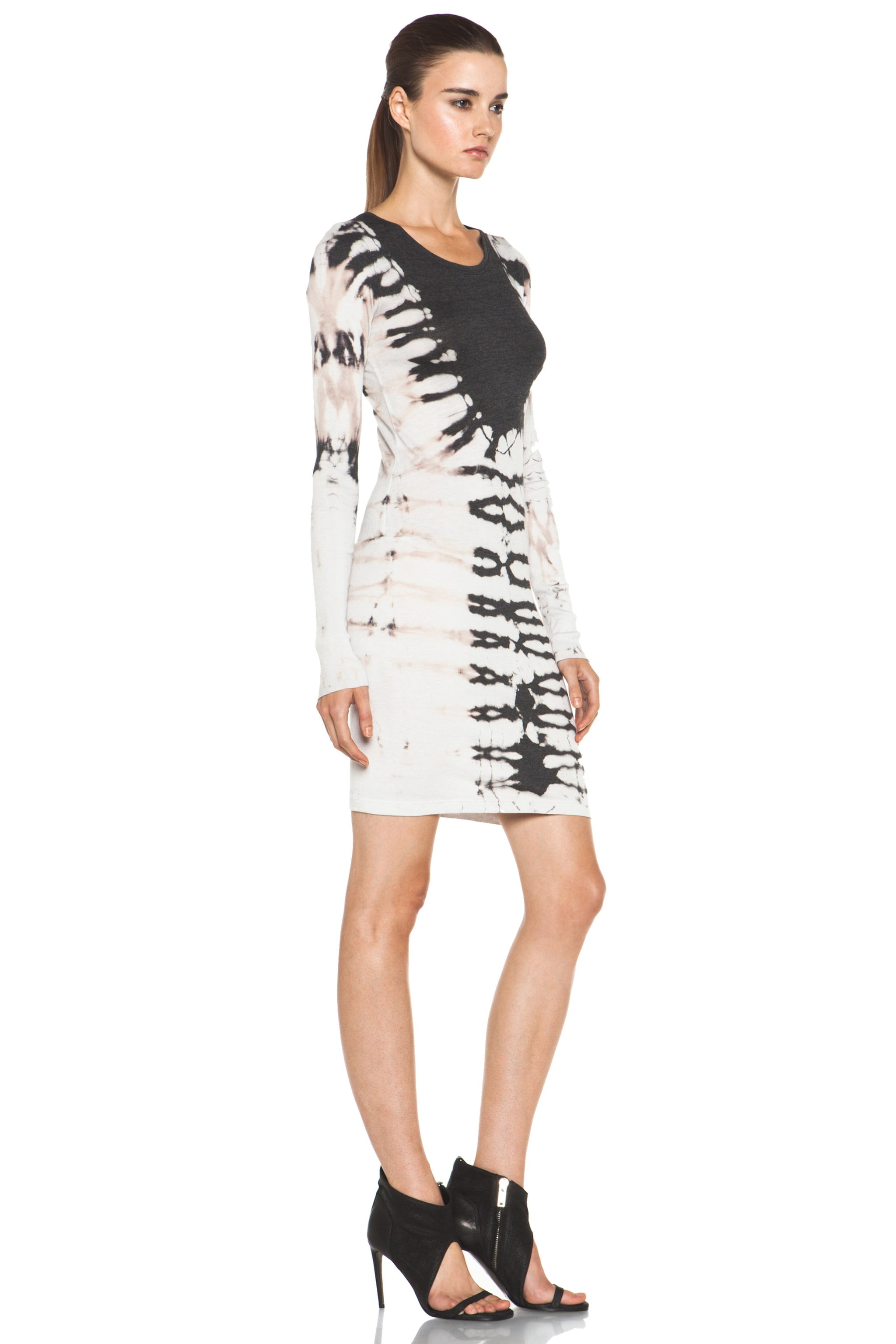 Image 3 of Raquel Allegra Layering Long Sleeve Dress in Black