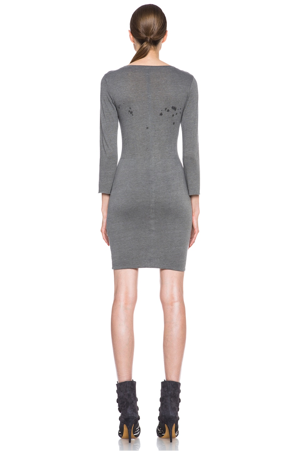 Image 4 of Raquel Allegra Deconstructed Jersey Dress in Stardust Ash Grey