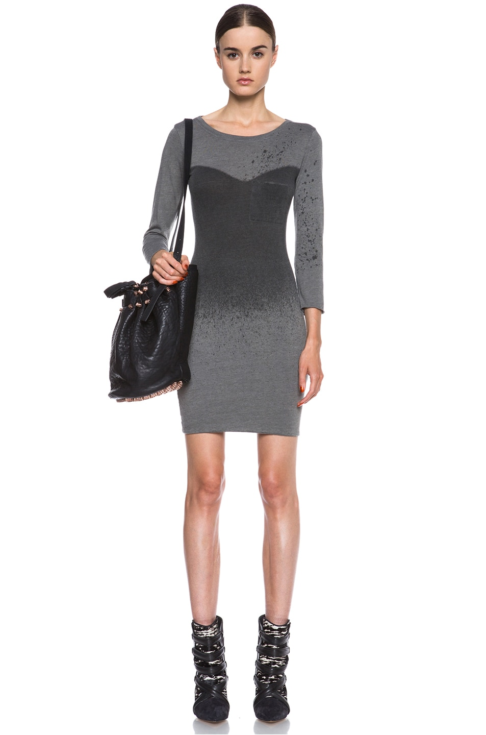 Image 5 of Raquel Allegra Deconstructed Jersey Dress in Stardust Ash Grey