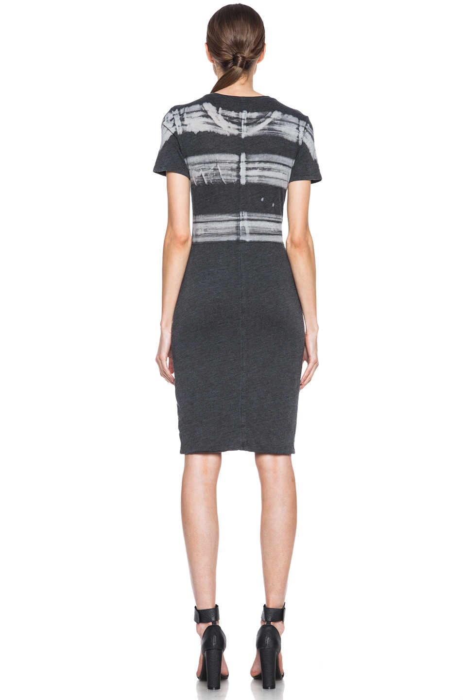 Image 4 of Raquel Allegra Cotton-Blend Cocktail Dress in Painter Stripe Black
