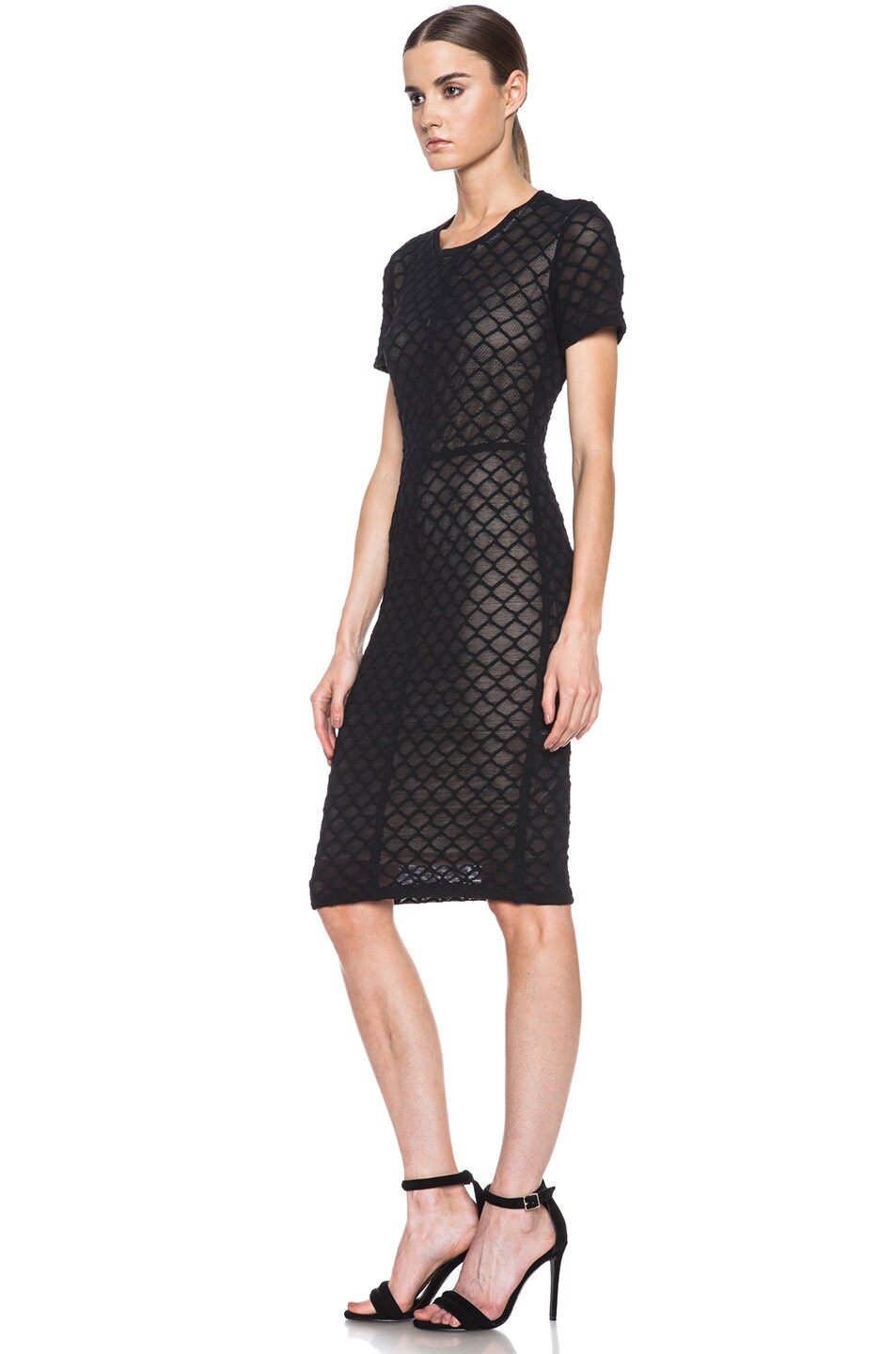 Image 2 of Raquel Allegra Knit Cocktail Dress in Black