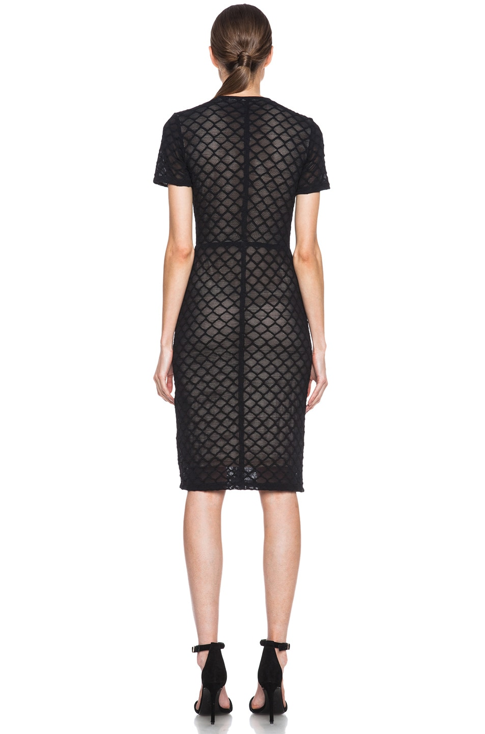 Image 4 of Raquel Allegra Knit Cocktail Dress in Black