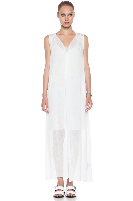 Image 1 of Raquel Allegra Maxi Rayon Dress in White