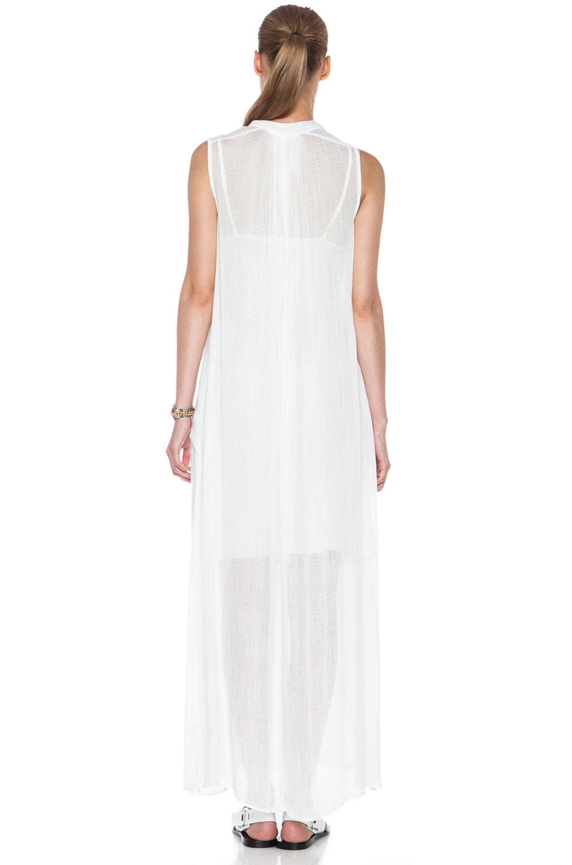 Image 4 of Raquel Allegra Maxi Rayon Dress in White