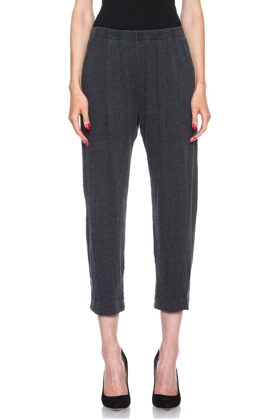 Image 1 of Raquel Allegra Deconstructed Jersey Trouser in Black