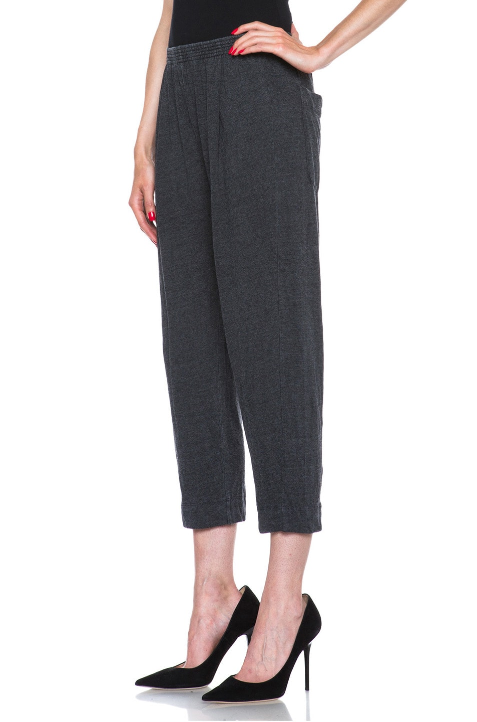 Image 2 of Raquel Allegra Deconstructed Jersey Trouser in Black