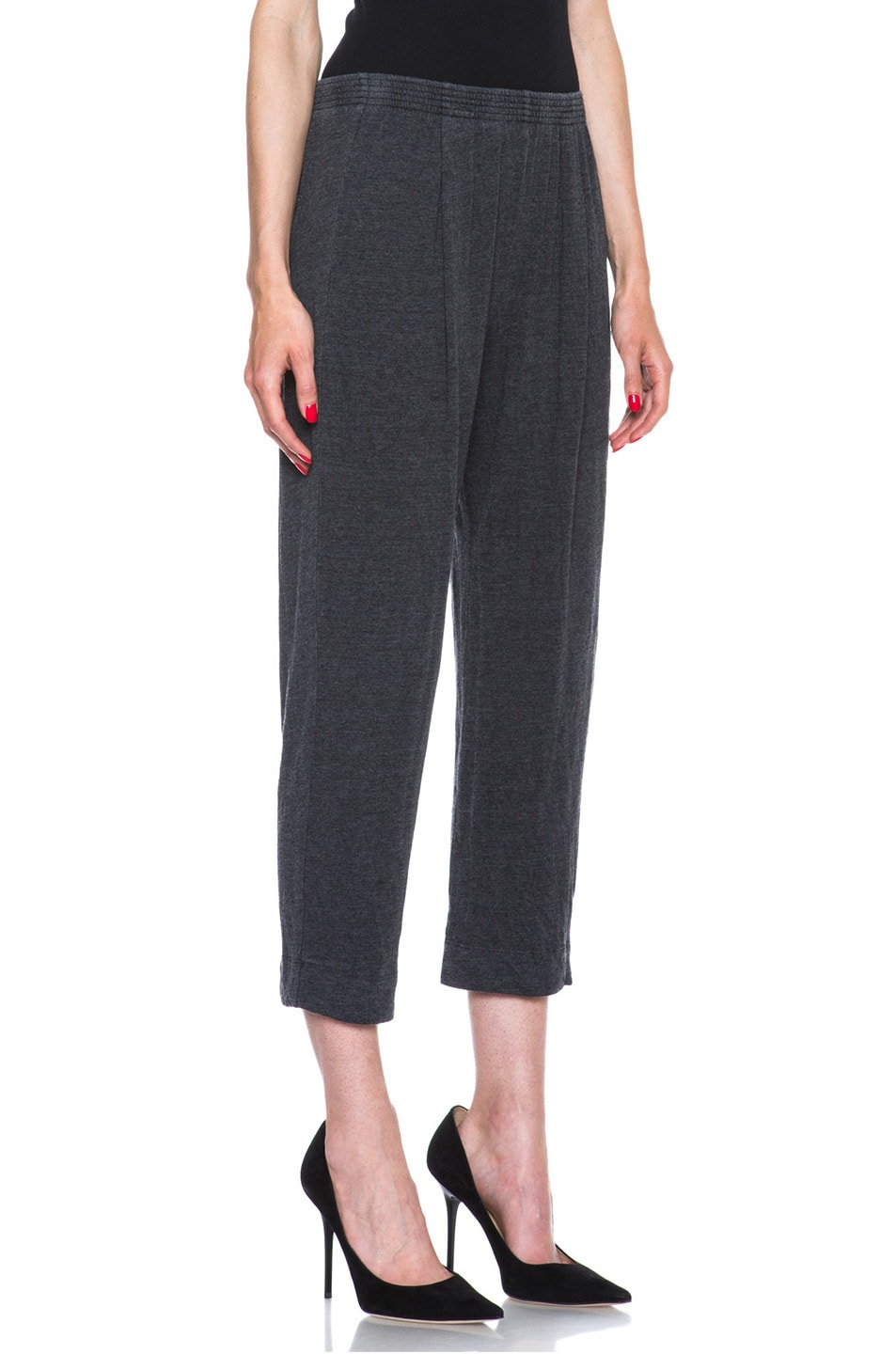 Image 3 of Raquel Allegra Deconstructed Jersey Trouser in Black