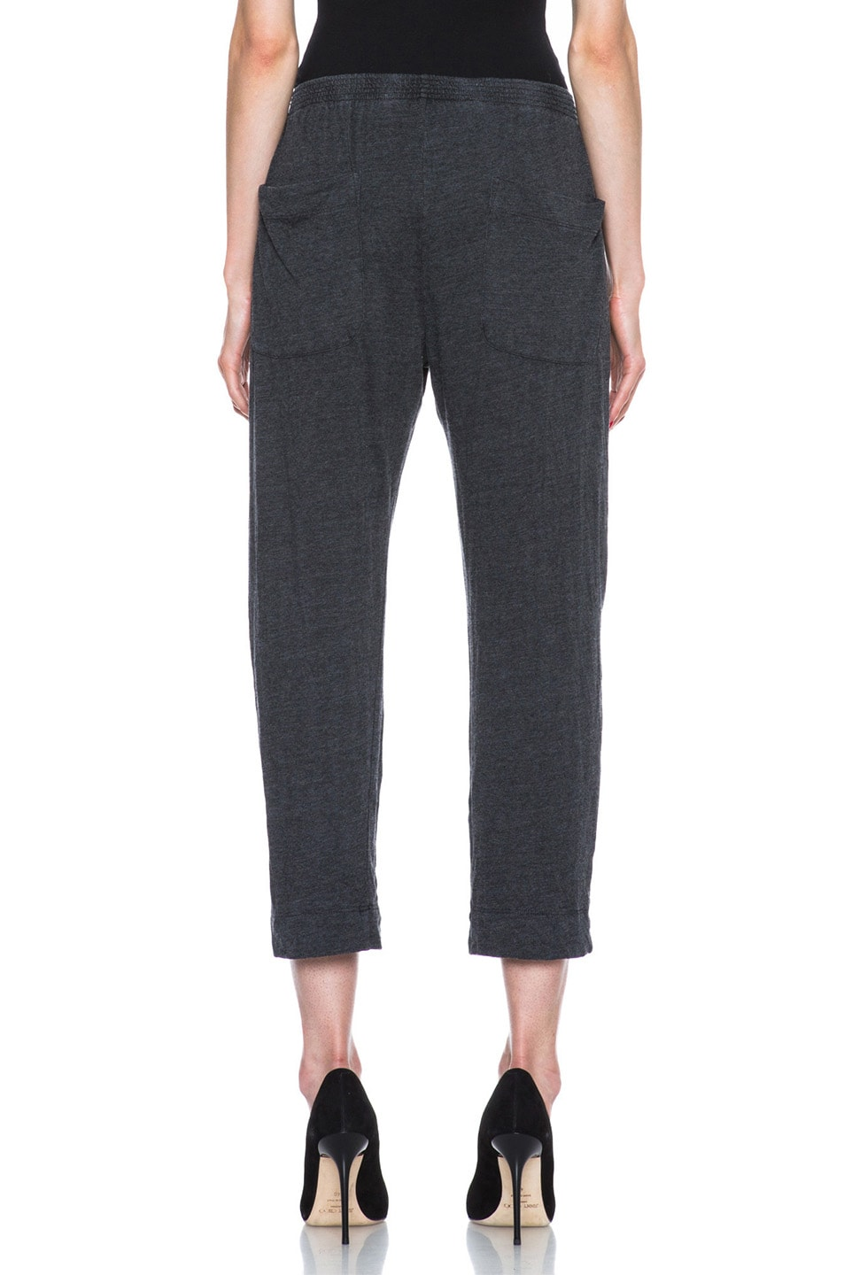 Image 4 of Raquel Allegra Deconstructed Jersey Trouser in Black