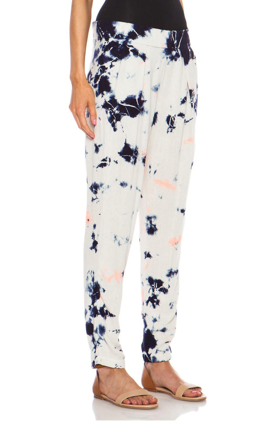 Image 3 of Raquel Allegra Easy Silk Pant in Cosmic Ivory