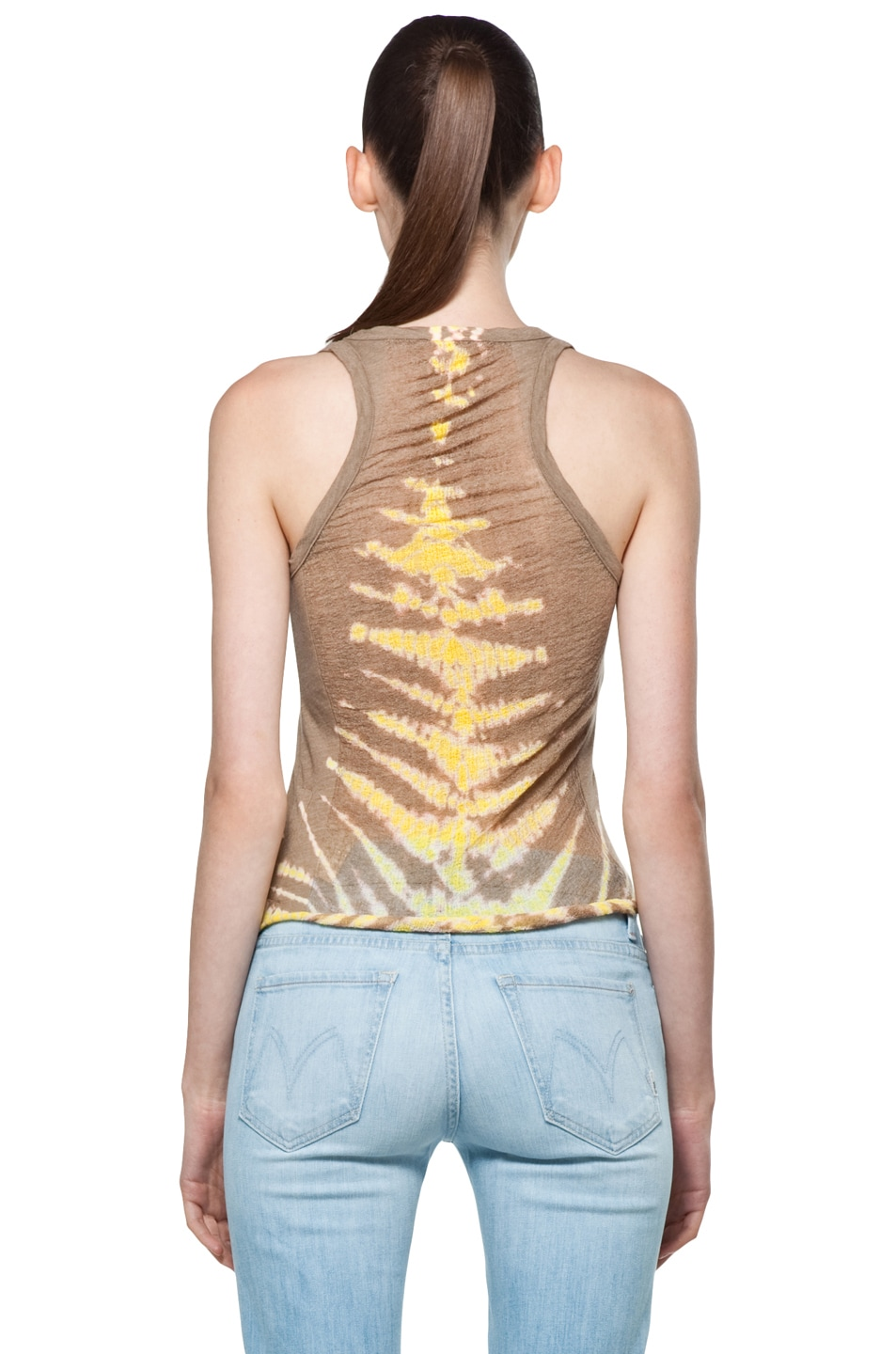 Image 4 of Raquel Allegra Back Shred Tank in Fern Taupe