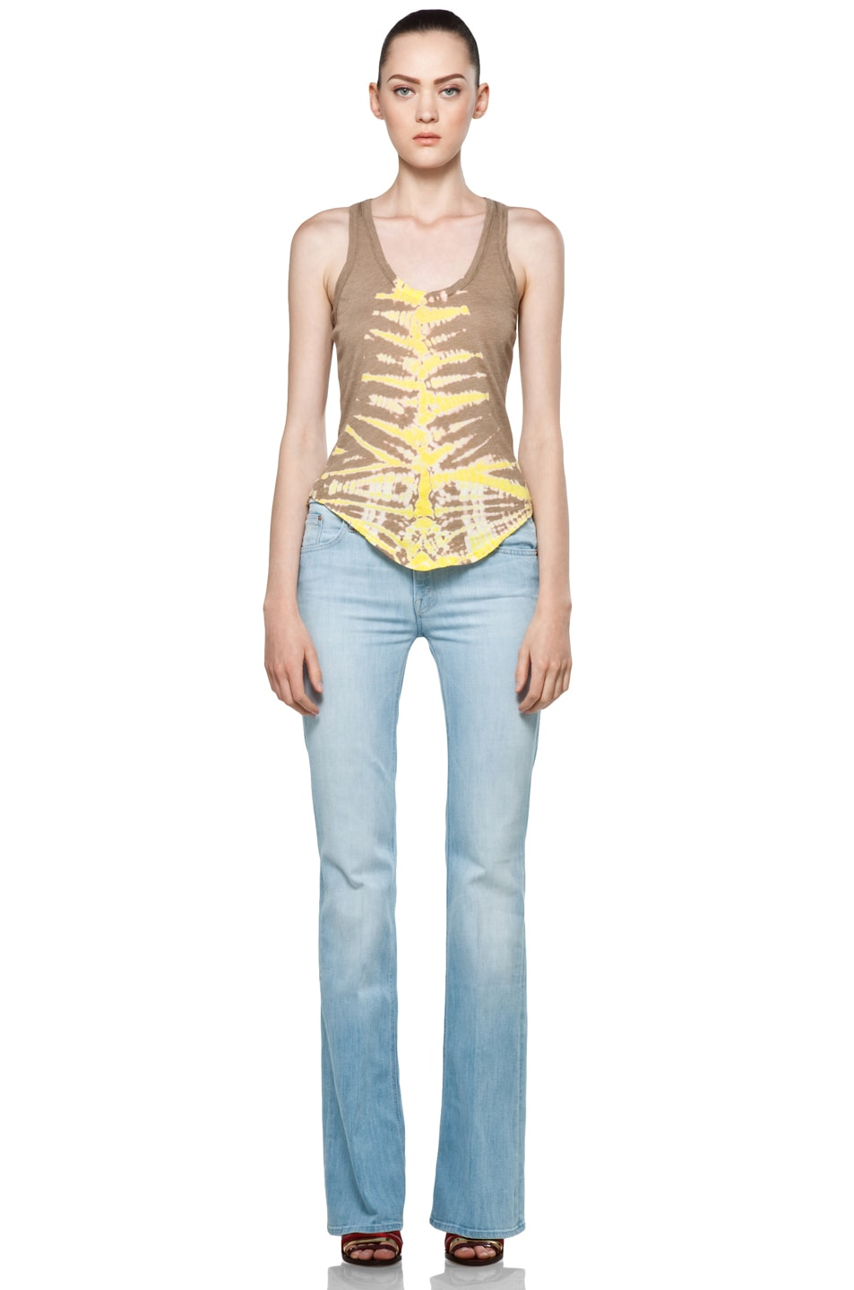 Image 5 of Raquel Allegra Back Shred Tank in Fern Taupe