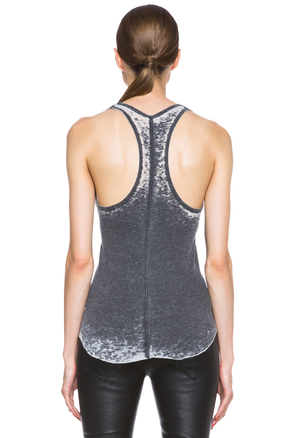Image 4 of Raquel Allegra Burnout Jersey Rib Tank in Grey