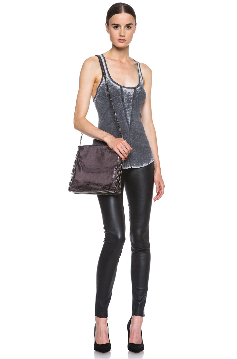 Image 5 of Raquel Allegra Burnout Jersey Rib Tank in Grey