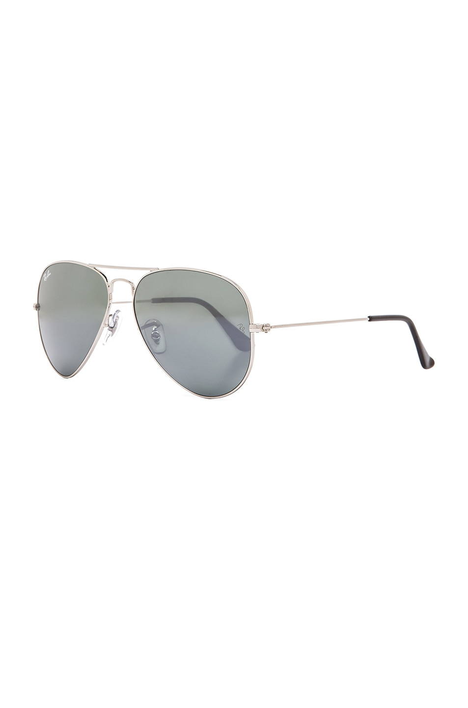Image 2 of Ray-Ban Aviator Sunglasses in Silver Mirror