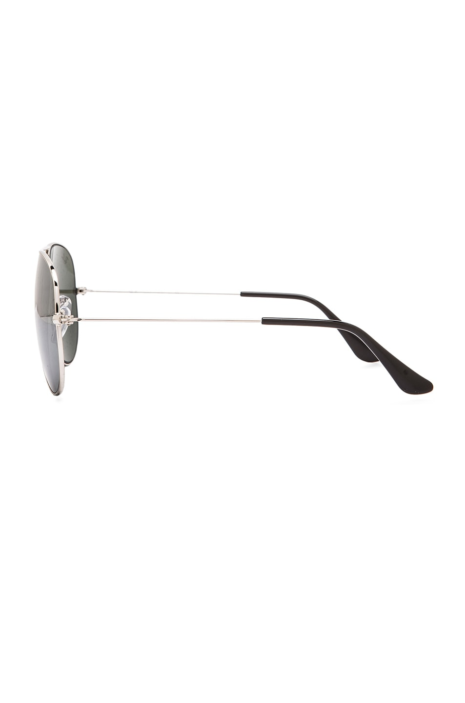 Image 3 of Ray-Ban Aviator Sunglasses in Silver Mirror