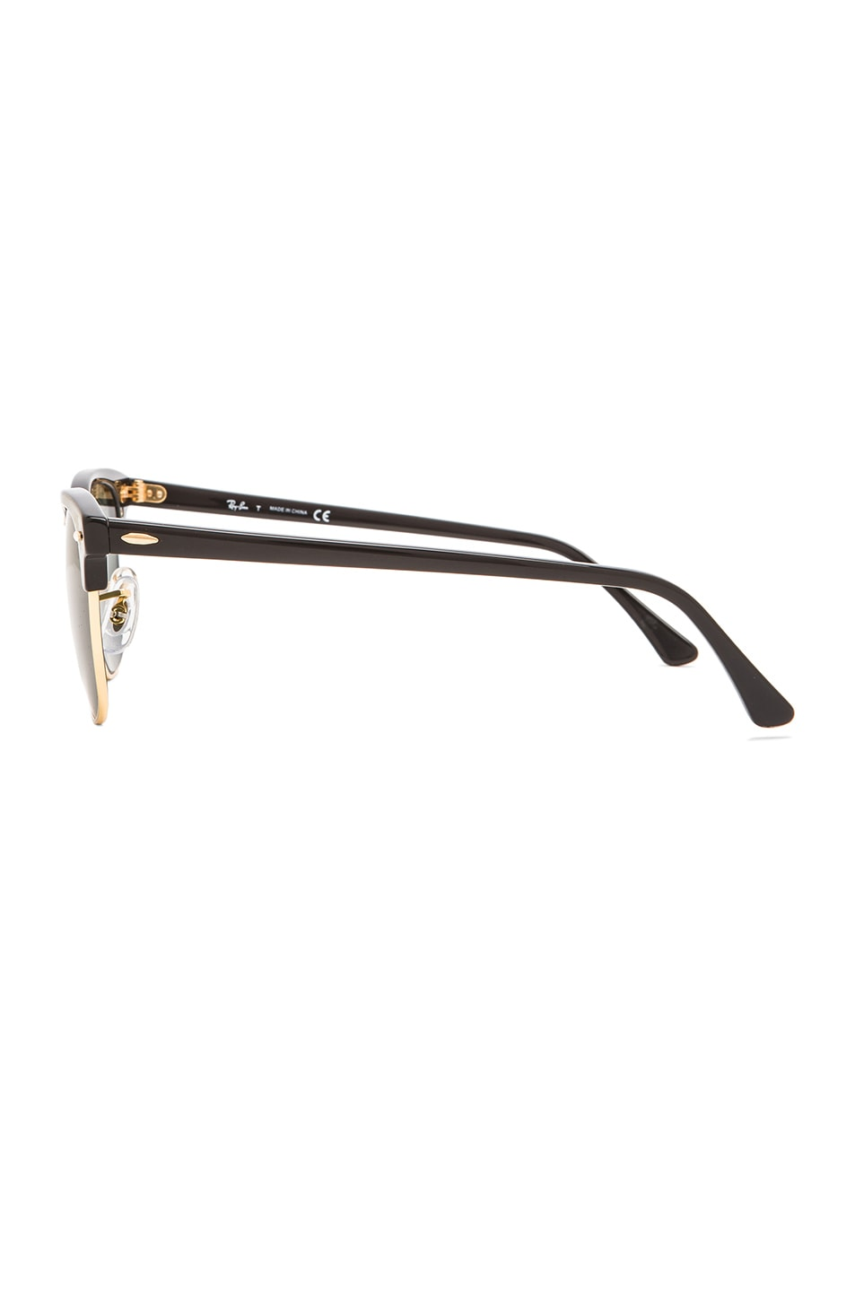 Image 3 of Ray-Ban Clubmaster Classic Sunglasses in Black