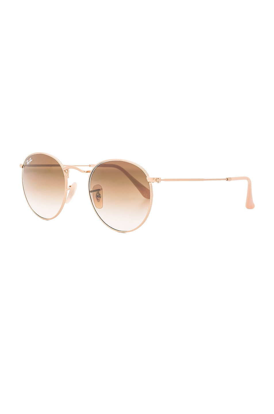 Image 2 of Ray-Ban Round Sunglasses in Gold & Gradient Brown