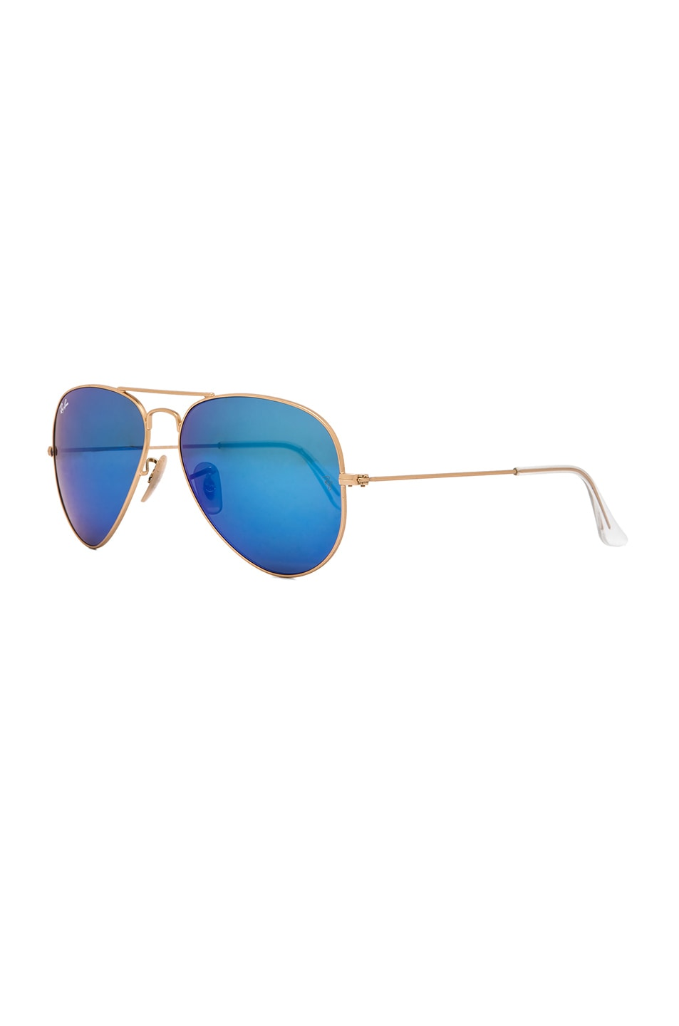 Image 2 of Ray-Ban Aviator Sunglasses in Gold & Blue