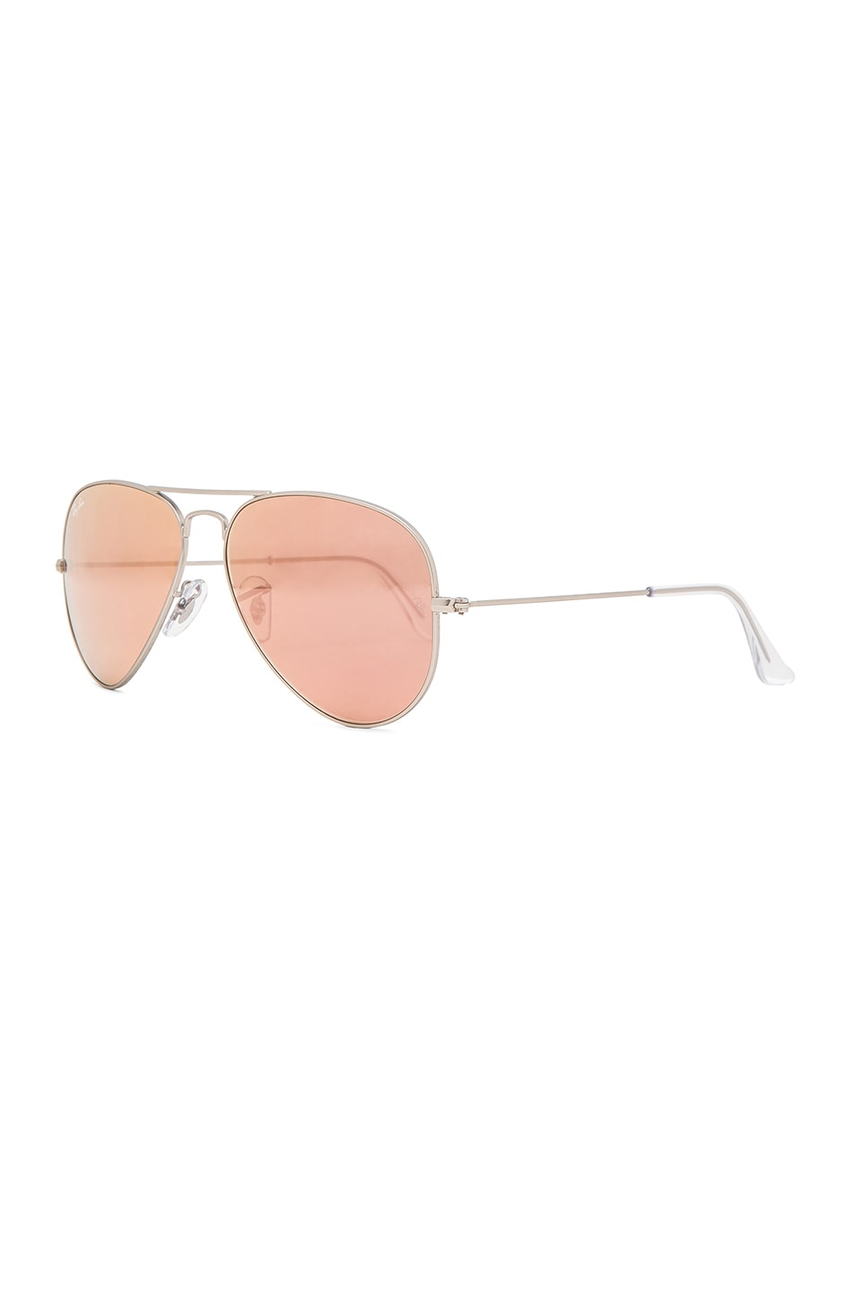 Image 2 of Ray-Ban Aviator Sunglasses in Brown & Pink