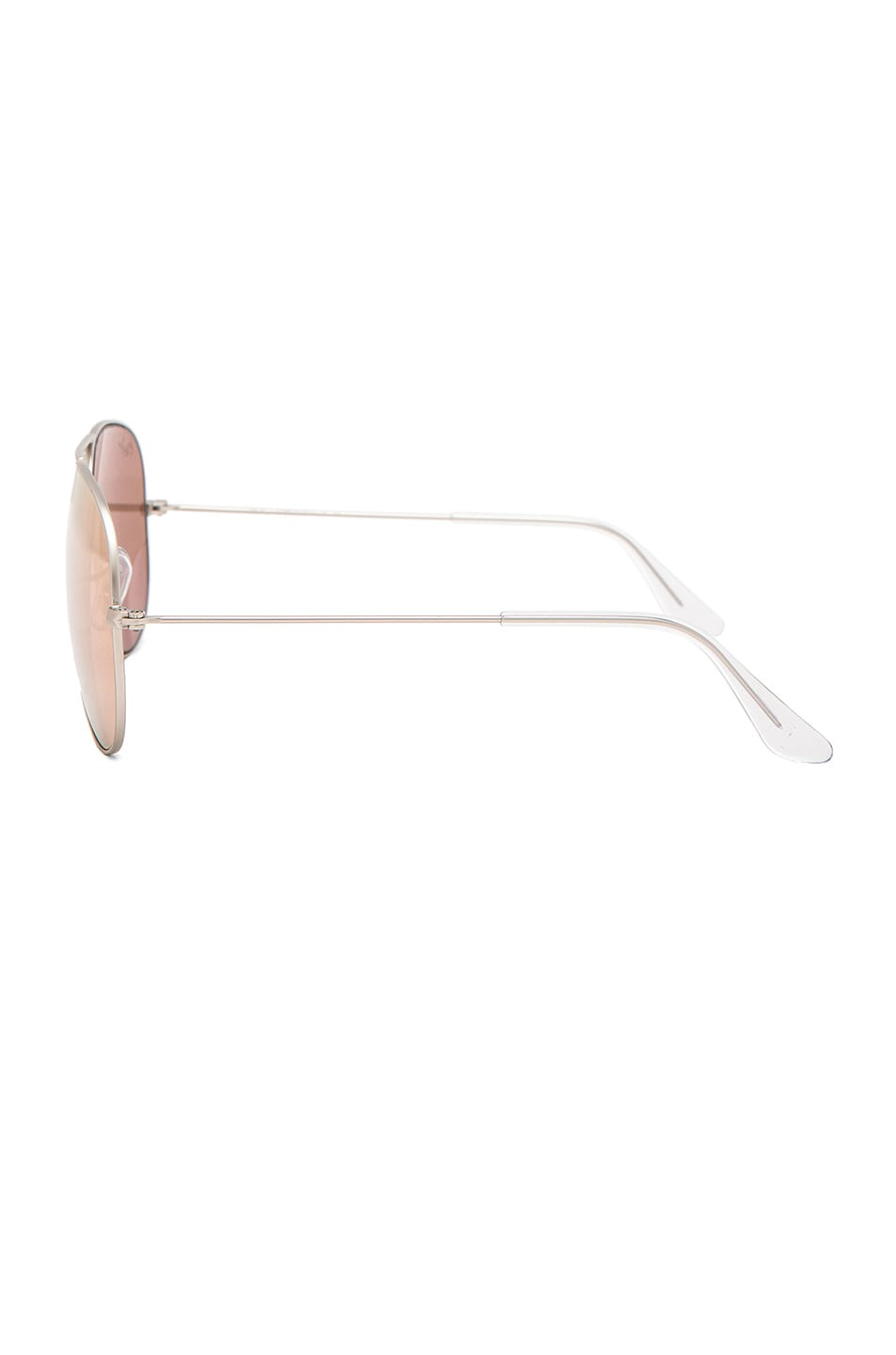 Image 3 of Ray-Ban Aviator Sunglasses in Brown & Pink