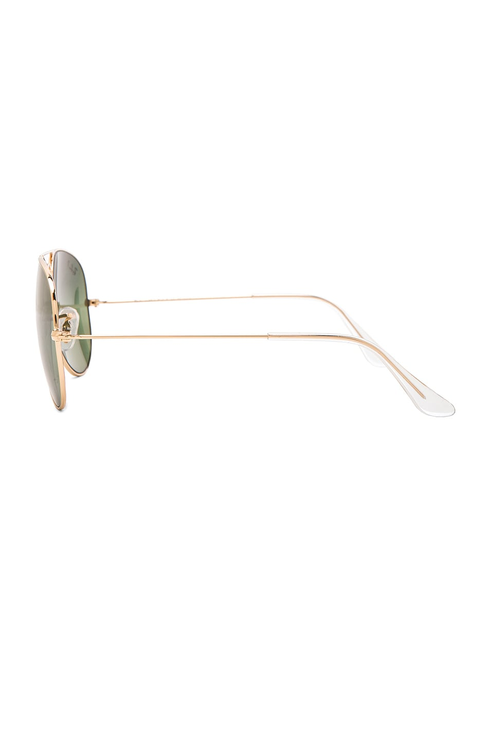 Image 3 of Ray-Ban Aviator Polarized Sunglasses in Green Mirror