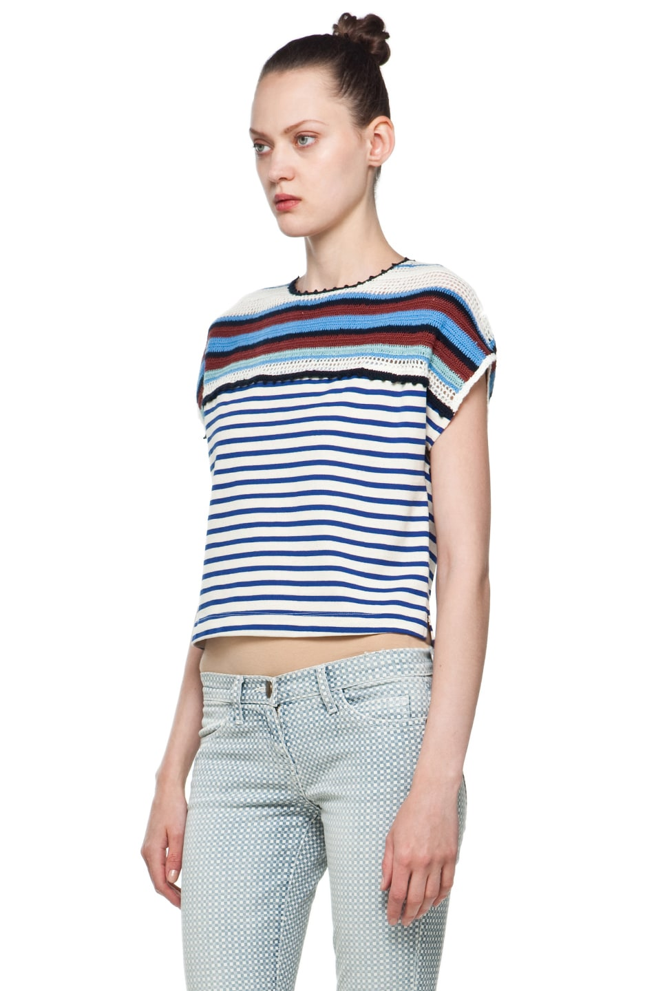 Image 2 of Rachel Comey Ranger Shell in Crochet Stripe