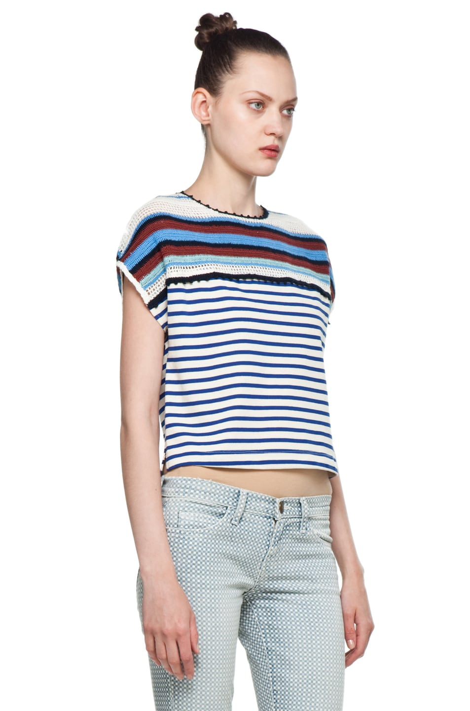 Image 3 of Rachel Comey Ranger Shell in Crochet Stripe