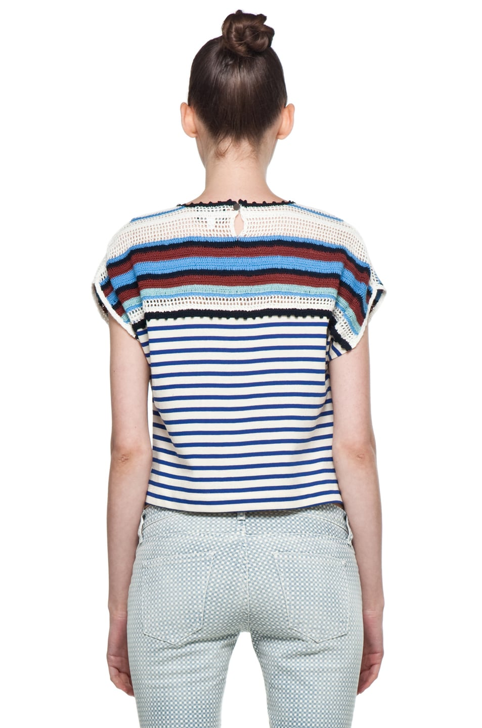 Image 4 of Rachel Comey Ranger Shell in Crochet Stripe