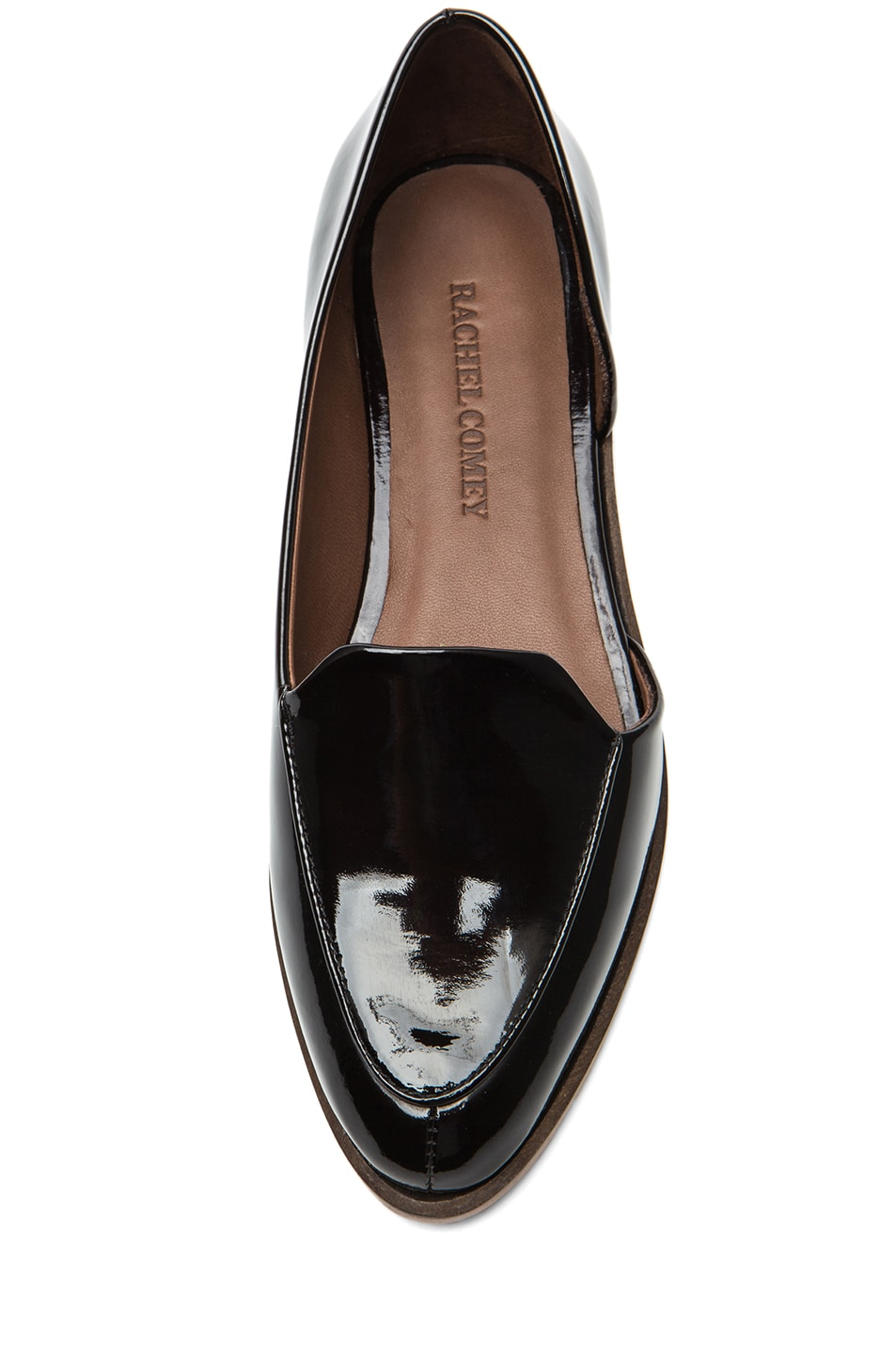 Image 4 of Rachel Comey Bolt Patent Leather Flats in Deep Plum