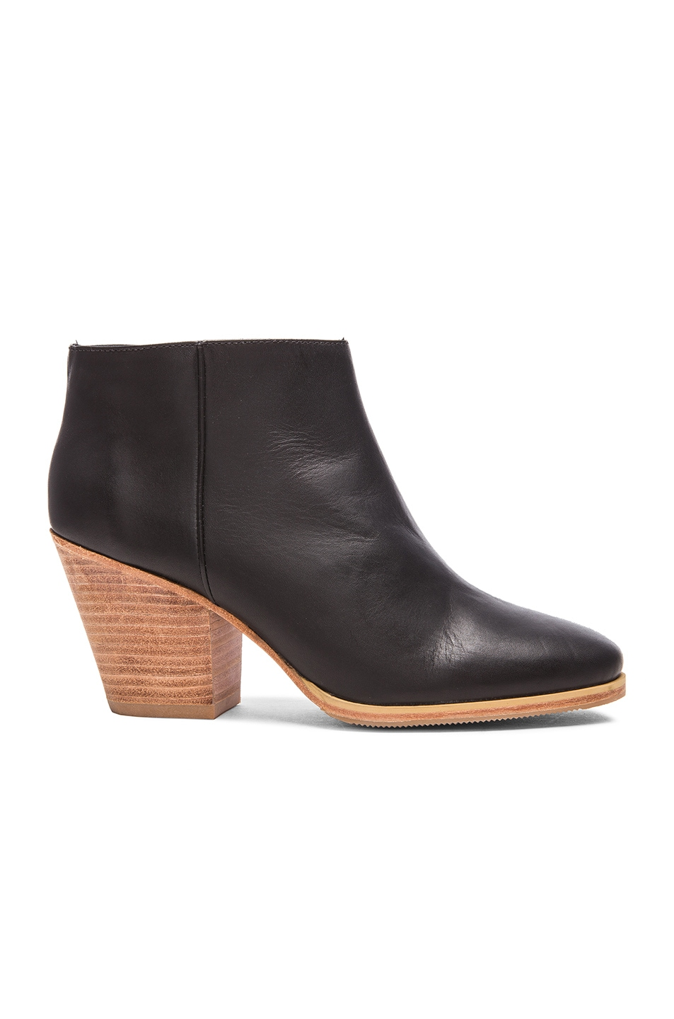 Image 1 of Rachel Comey Mars Leather Booties in Black & Natural