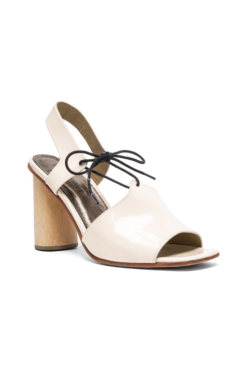 Image 2 of Rachel Comey Patent Leather Melrose Heels in Creamsicle Patent